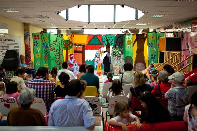 Празднование Дня защиты детей в медицинском центре Университета Земмельвейса